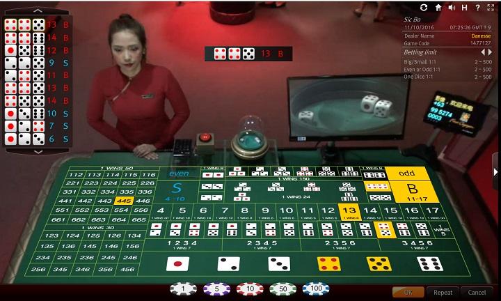 ライブシックボー sicbo ライブカジノ エンパイア777 オンラインカジノ