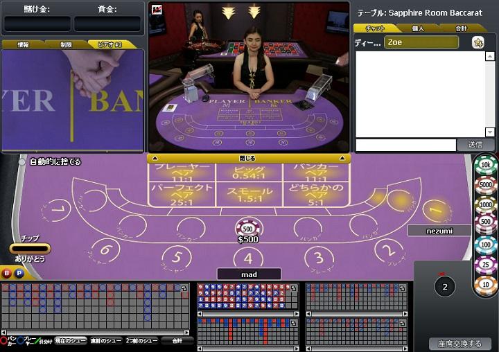 ライブバカラ ウィリアムヒルカジノクラブ プレイテック ライブカジノ
