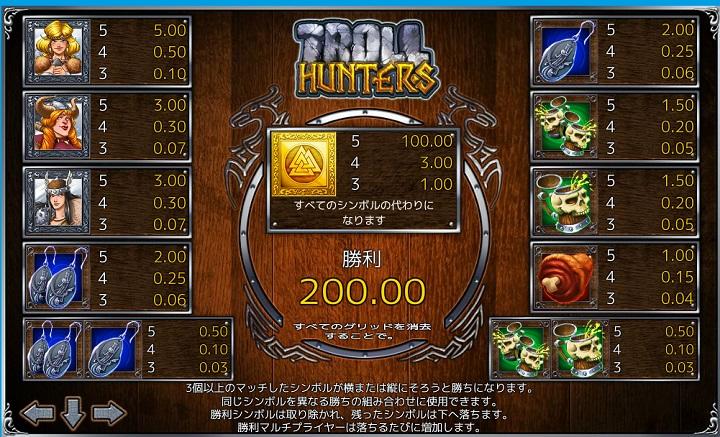 ベラジョンカジノ スロット troll hunter